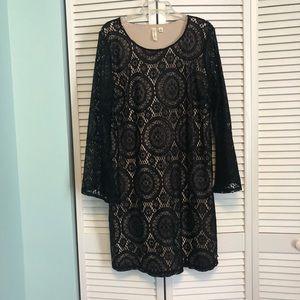 Tacera Black Lace Dress